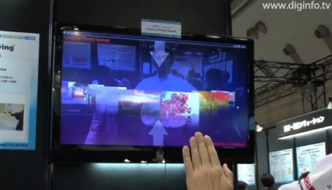 Toshiba AirSwing user interface lets you sweat it out
