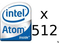 SeaMicro server can hold 512 Intel Atom processors