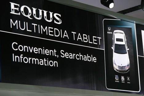 Hyundai 2011 Equus luxury sedan ships with iPad as owner's manual