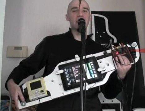 DIY iPad Guitar Synthesizer Frame