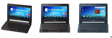 Toshiba Dynabook AZ Series netbook runs on Android 2.1