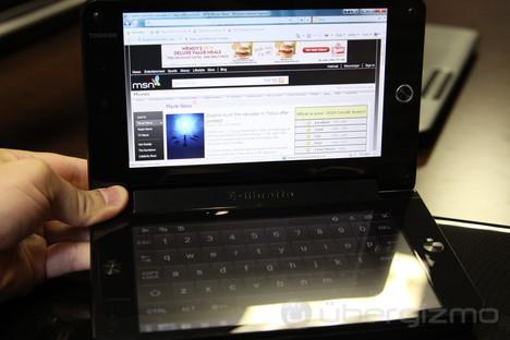 Toshiba Libretto W100 hands-on