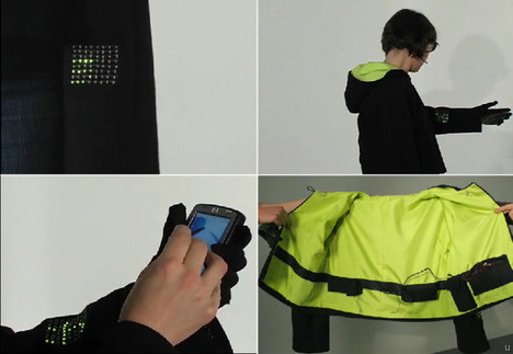 Wearable Absence interactive garment