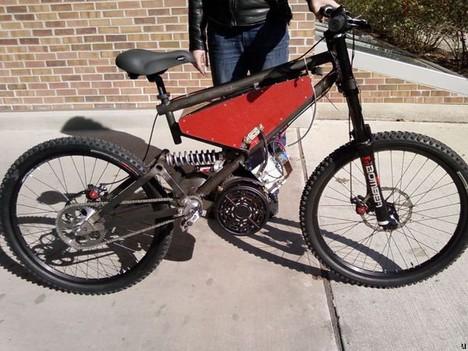 DIY electric mountain bike is pretty swift