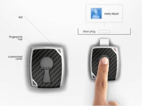 Concept: Ekey Biometric Security Device