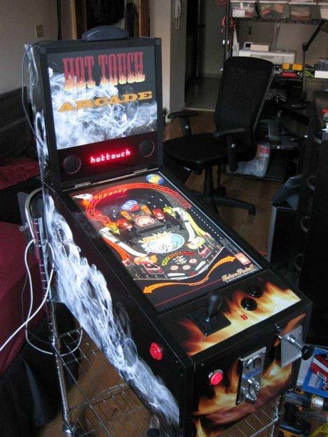 Hot Touch Arcade Pinball Emulator Accepts Real Coins