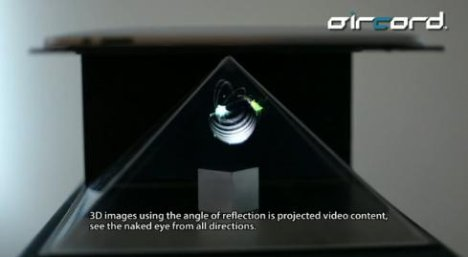 iPad 3D Projector Can Render 3D Objects For The Naked Eye