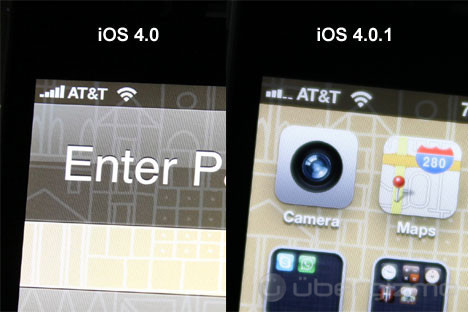 Apple iOS 4.0.1 fixes signal display info