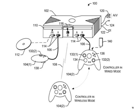 Microsoft patent delivers dual mode Xbox 360 controller