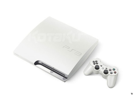 PS3 Slim now comes in white with 320GB hard drive