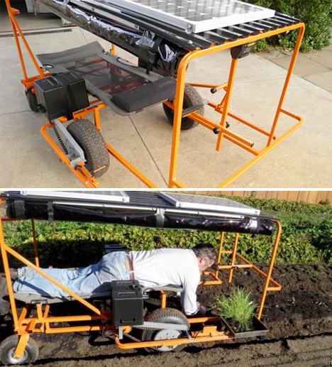 Solar-powered Wunda Weeder cuts greens with green power