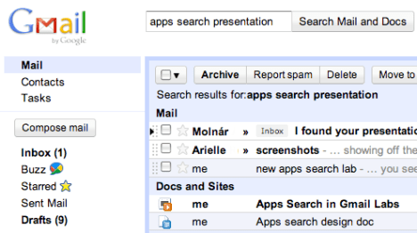 Google Introduces Apps Search To Search Your Gmail And Google Docs At Once