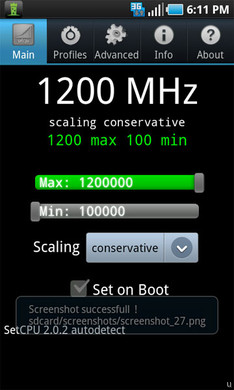 Samsung Captivate overclocked to 1.2GHz