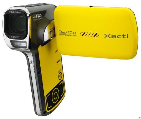 Sanyo Xacti VPC-CA102, a fully waterproof camcorder