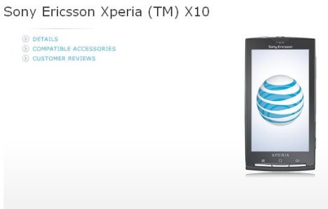 Sony Ericsson Xperia X10 Goes On Sale At AT&T For $149.99