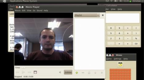 Face Recognition User Interface Demoed on Ubunutu Prototype