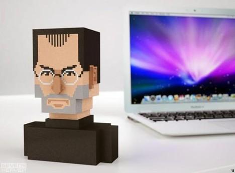 Steve Jobs pixel bust takes 8-bit route
