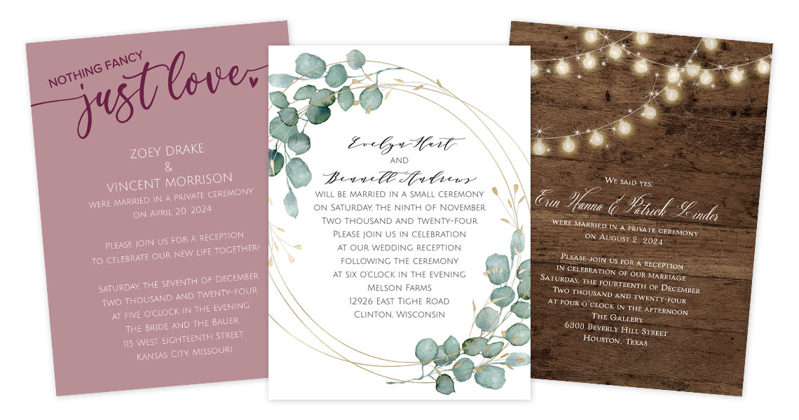 How To Word Your ReceptionOnly Invitations  Anns Bridal Bargains