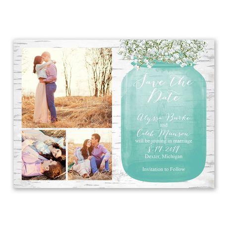 Babys Breath Save the Date Card  Anns Bridal Bargains