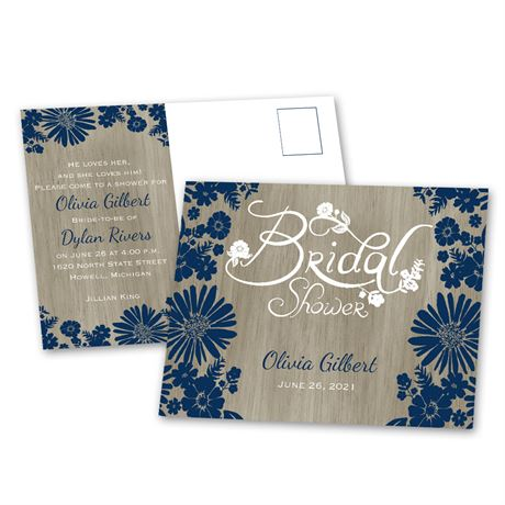 Rustic Chic Bridal Shower Postcard Anns Bridal Bargains