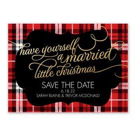 christmas plaid holiday card