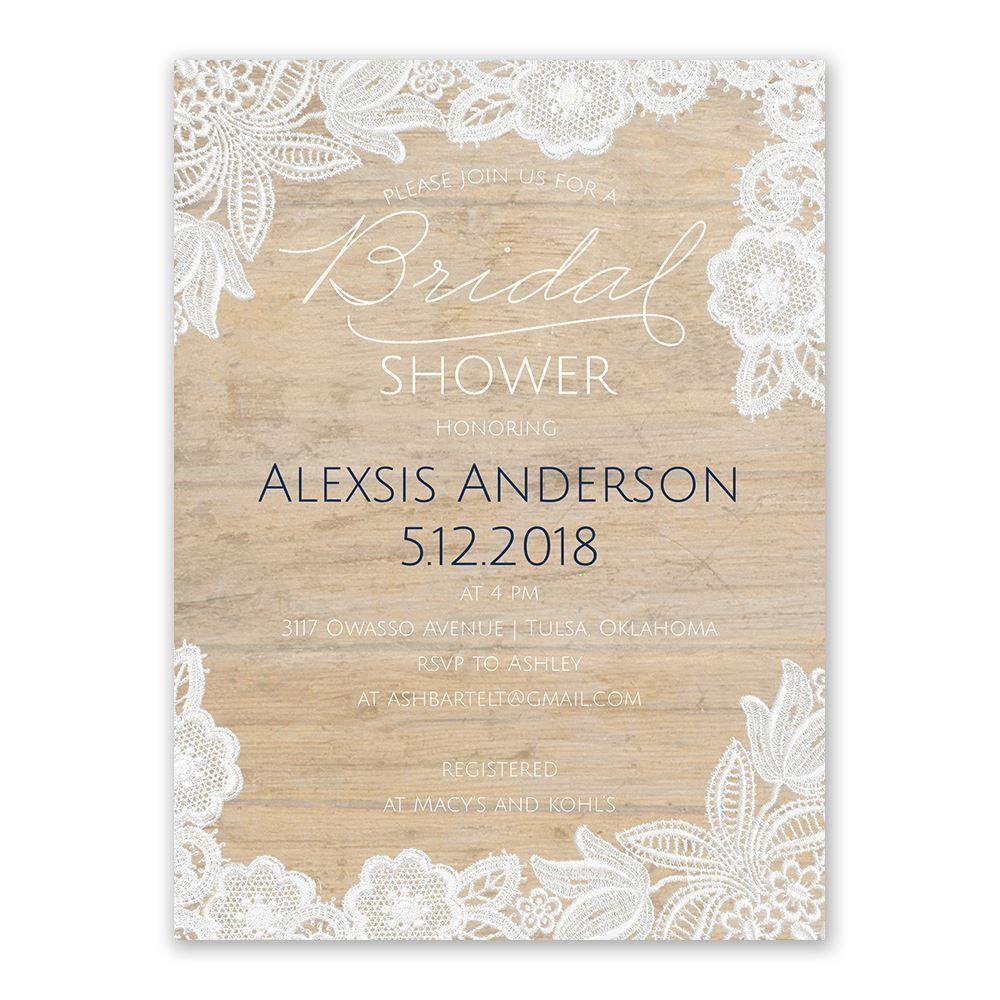 Vintage Country Bridal Shower Invitation  Anns Bridal Bargains
