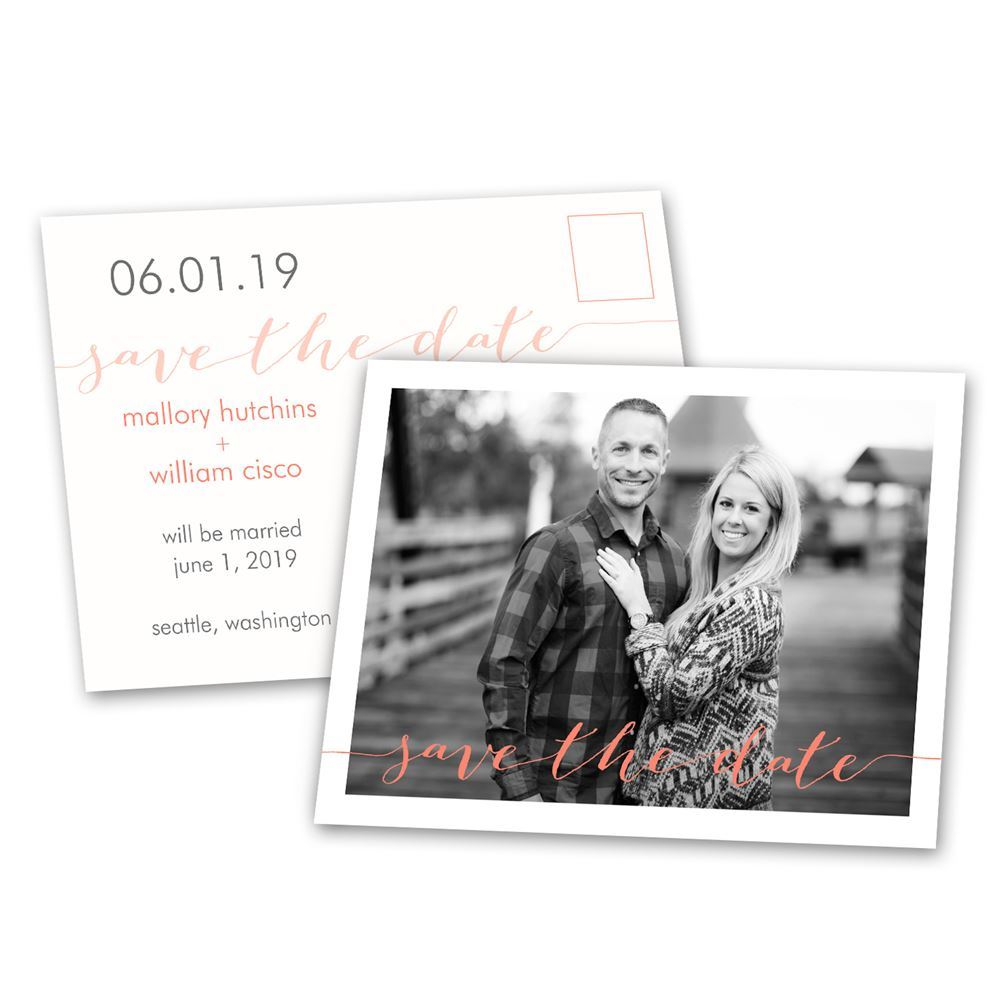 Photo Feature Save the Date Postcard  Anns Bridal Bargains