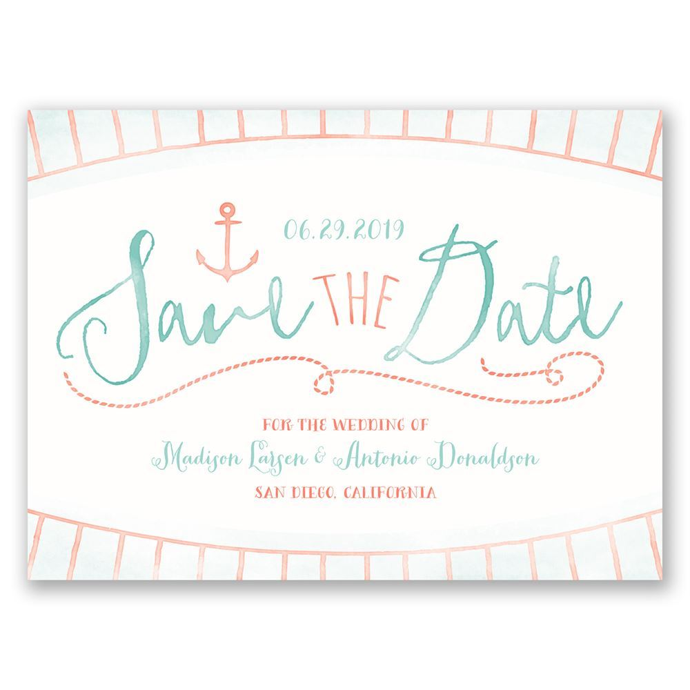 watercolor nautical save the