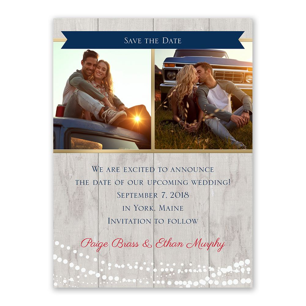 Country Lights Save the Date Card  Anns Bridal Bargains
