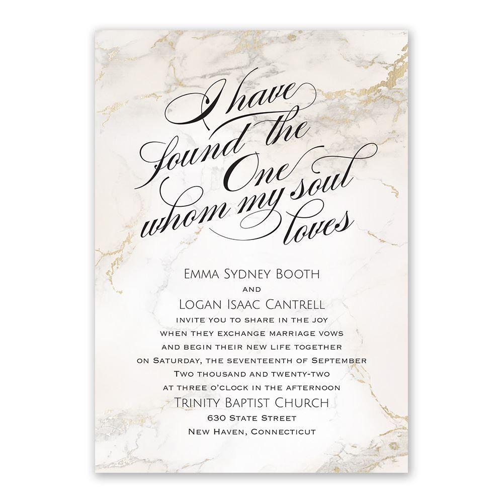 Soul Marble Invitation  Anns Bridal Bargain