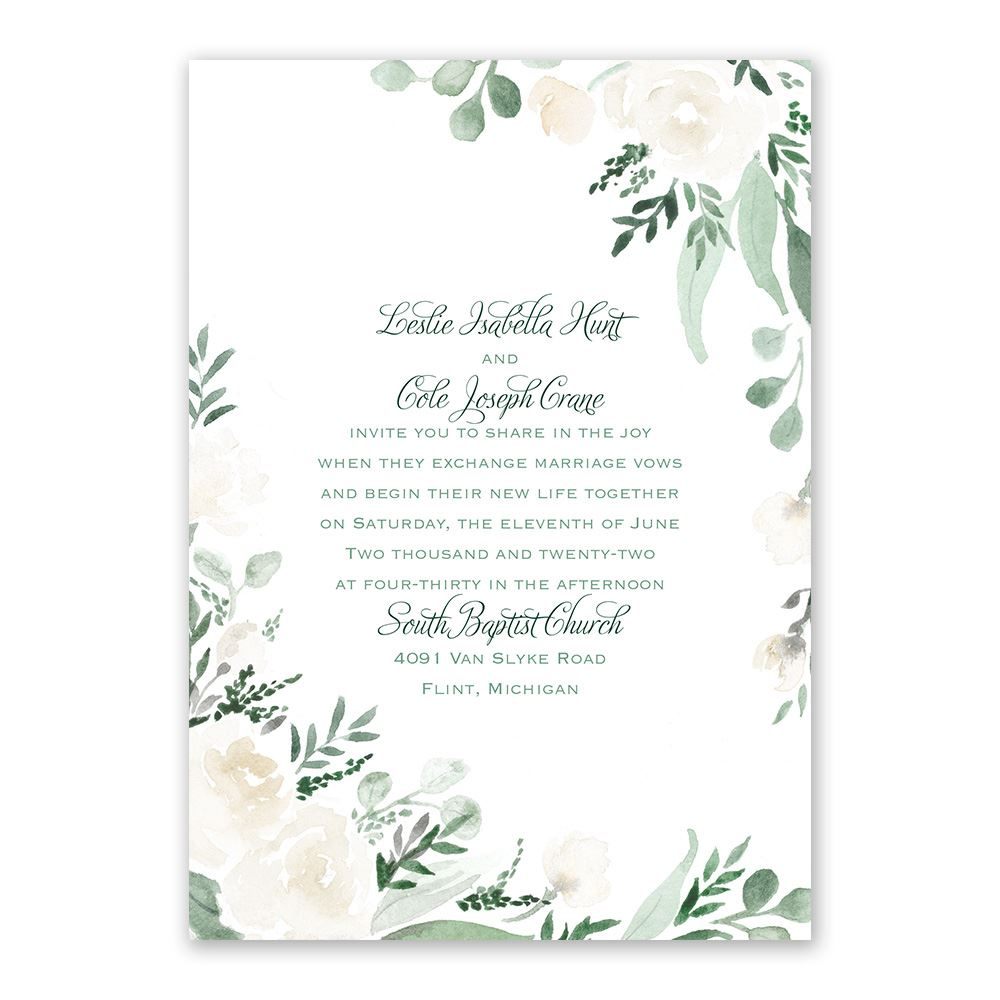painted garden invitation with