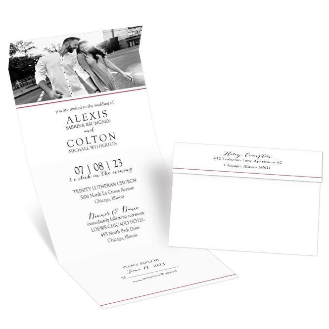 Minimalist Photo Seal And Send Invitation