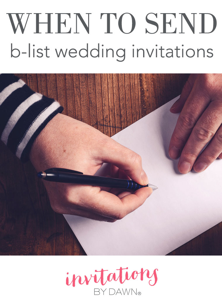 When to Send BList Wedding Invitations  Invitations By Dawn