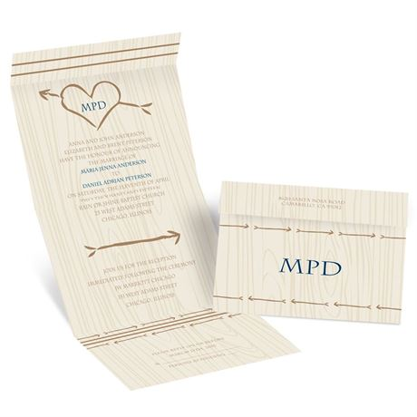 Natural Direction Seal and Send  Invitations By Dawn