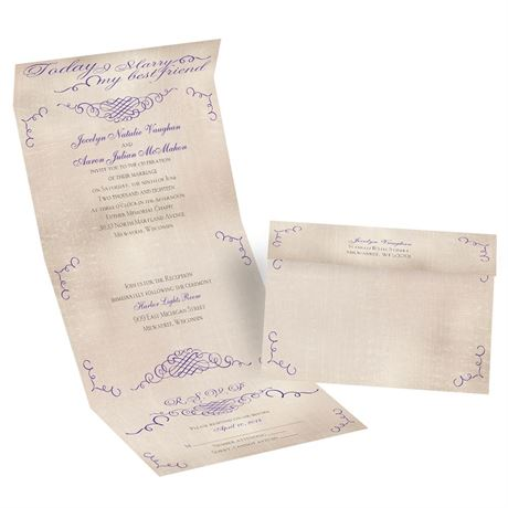 Best of Friends Seal and Send Invitation  Invitations By Dawn
