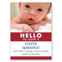HELLO Mini Birth Announcement | Invitations By Dawn