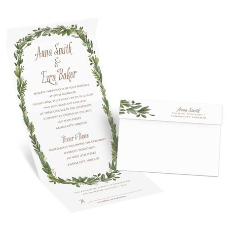 Naturally Perfect Foil Seal and Send Invitation