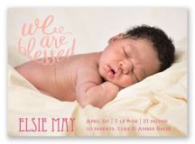 We Are Blessed Birth Announcement Magnet | Invitations By Dawn