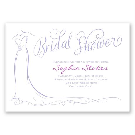 Elegant Bride Bridal Shower Invitation  Invitations By Dawn