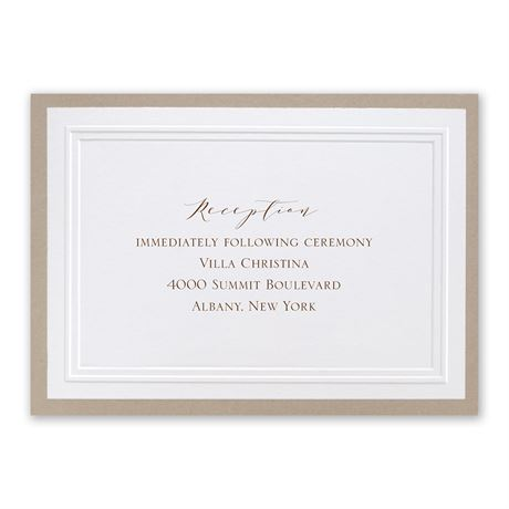 Sophisticated Border Reception Card  Invitations By Dawn