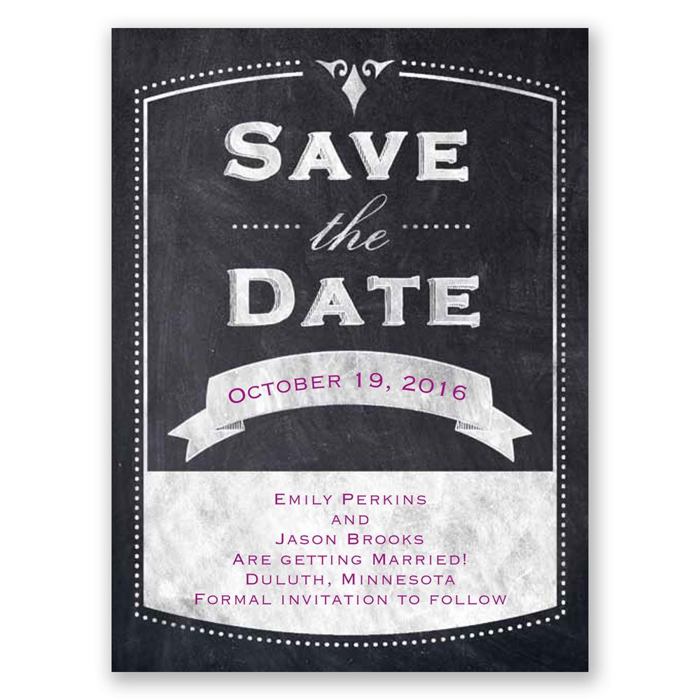 Old School Save the Date Card  Invitations By Dawn