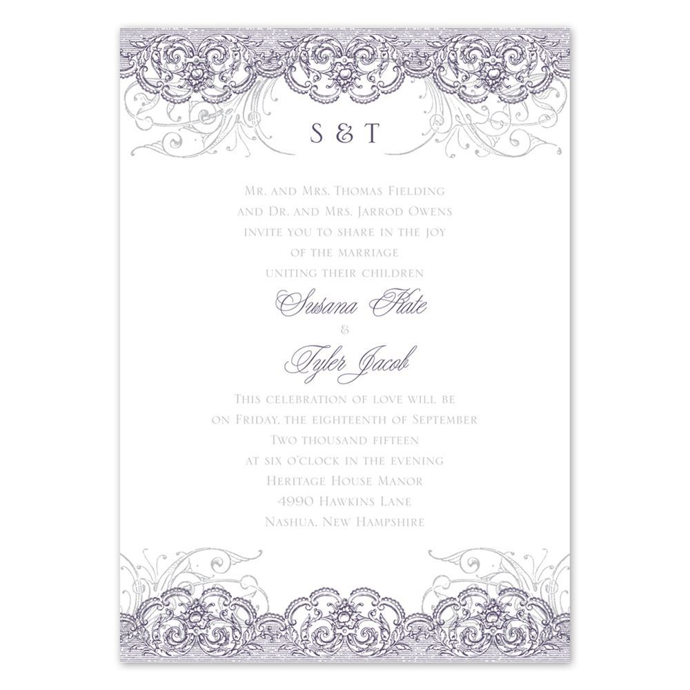 Lacy Flourishes All In One Invitation Invitations By Dawn