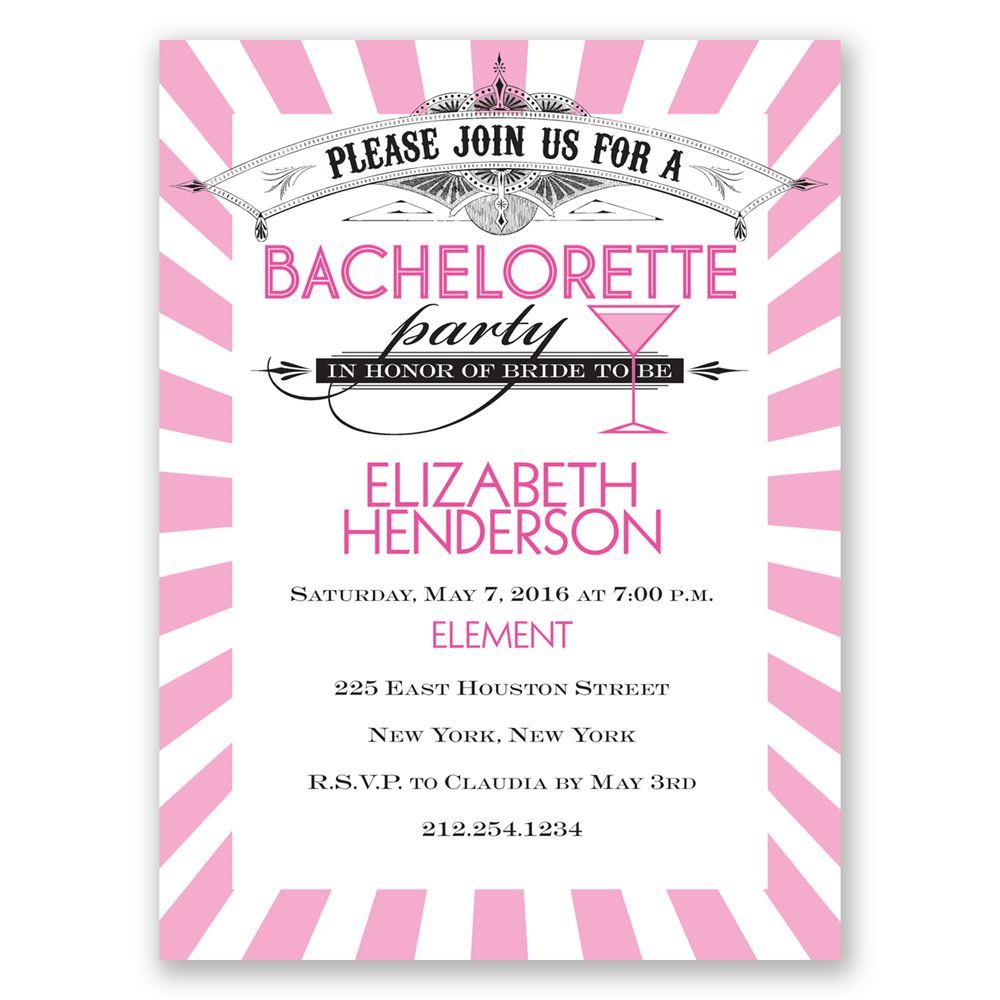 Join The Party Bachelorette Party Invitation Invitations