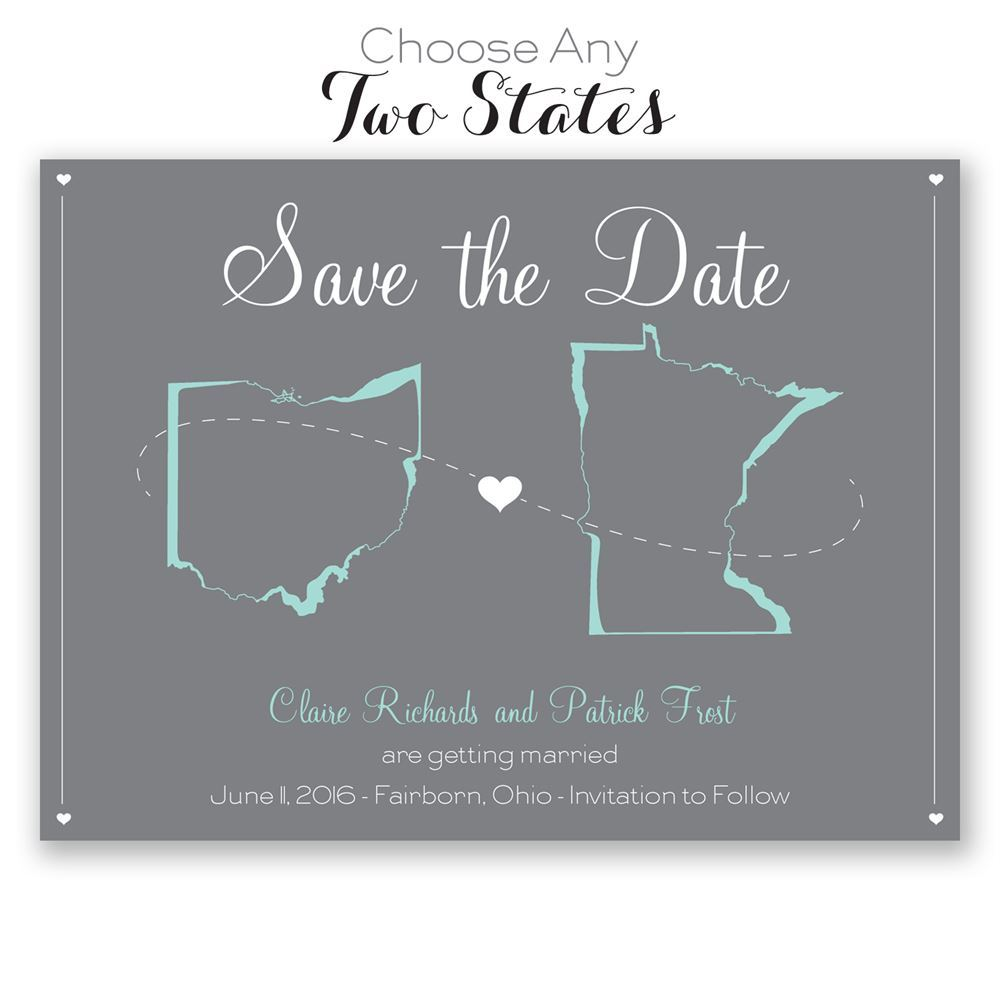 State Your Love Save The Date Card Invitations By Dawn