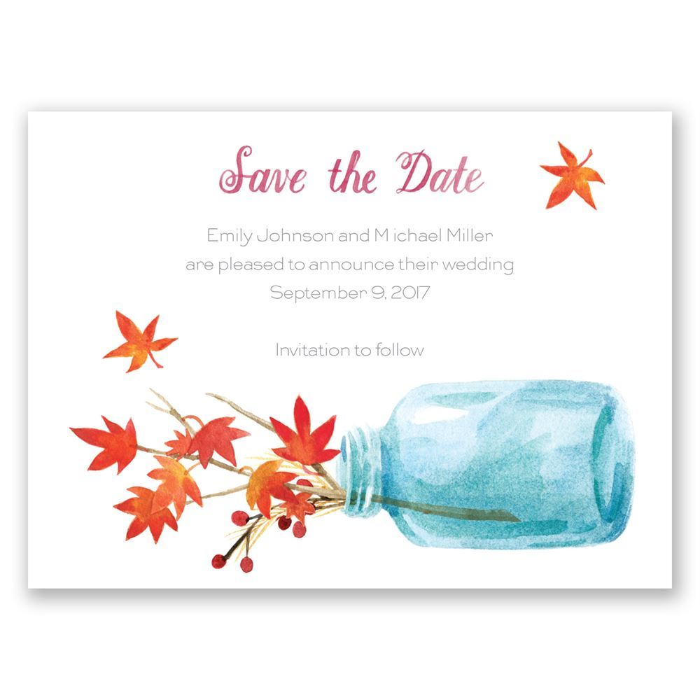 Fall Wedding Announcements