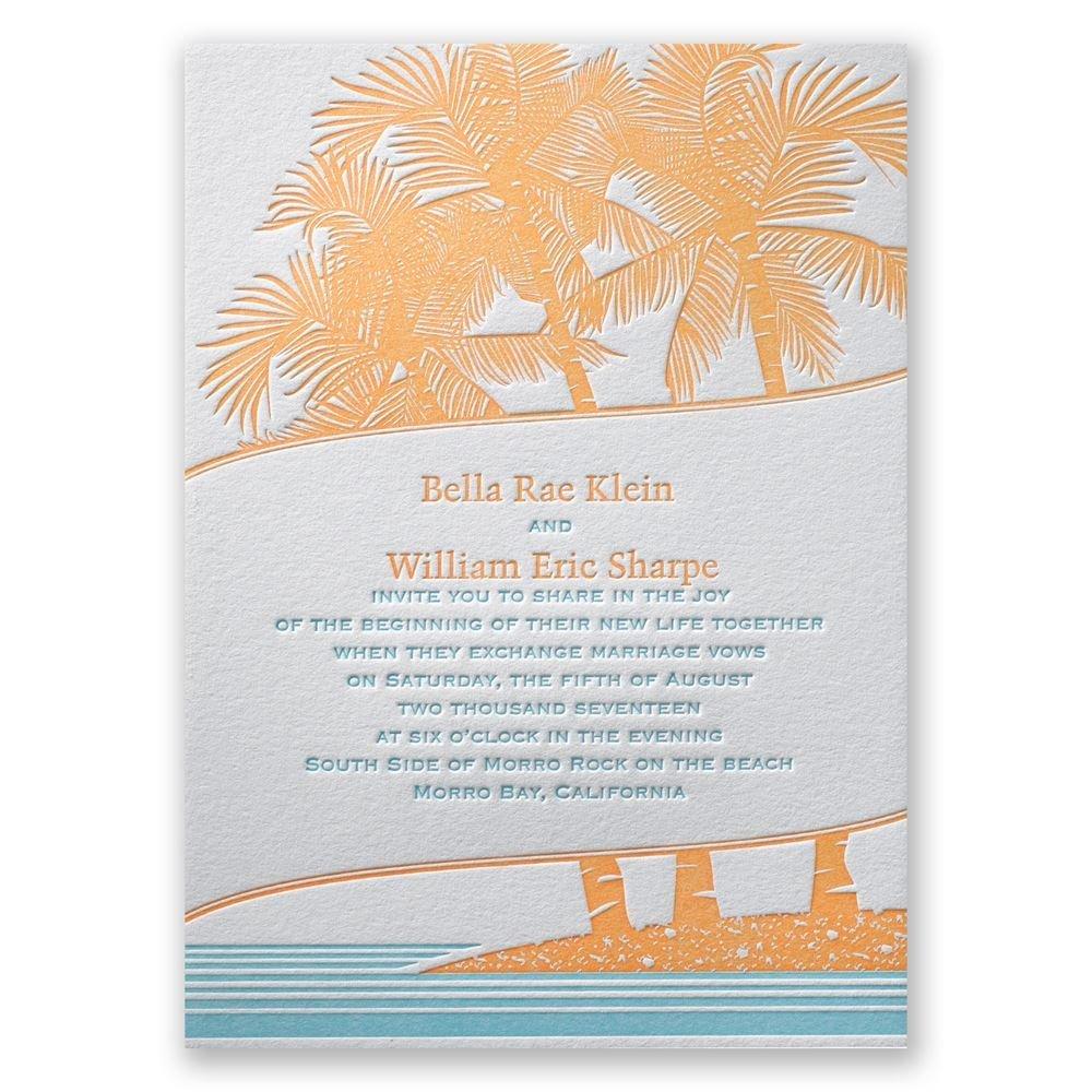 Tropical Escape Letterpress Invitation Invitations By Dawn