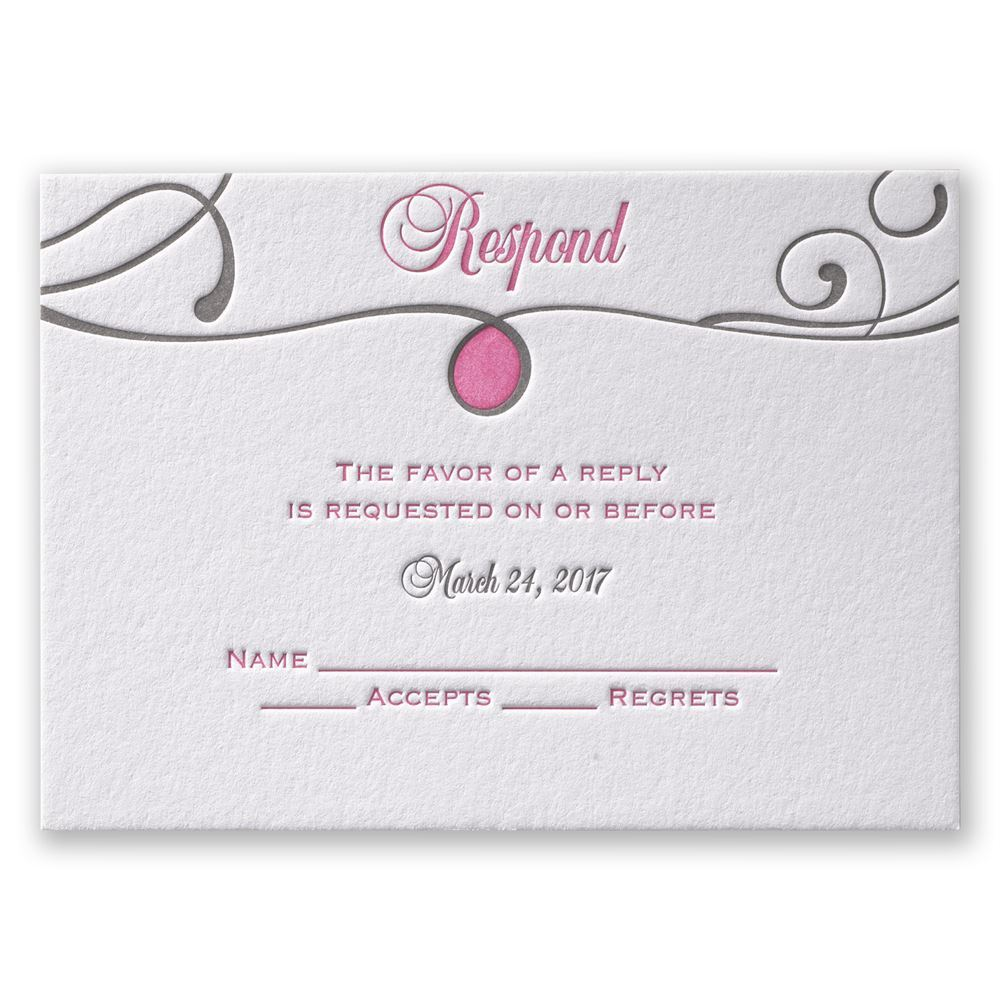 Perfect Match Letterpress Response Card Invitations By Dawn