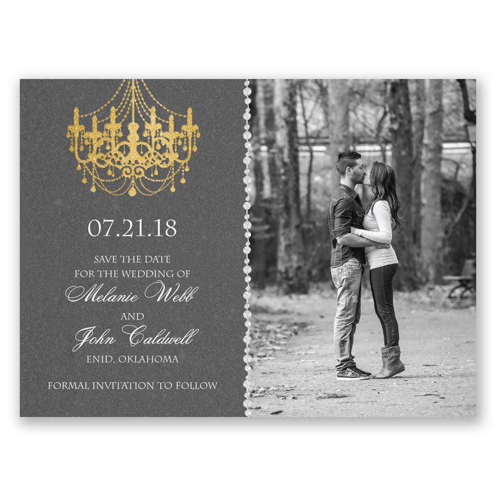 Mood Lighting Save The Date Card Invitations By Dawn