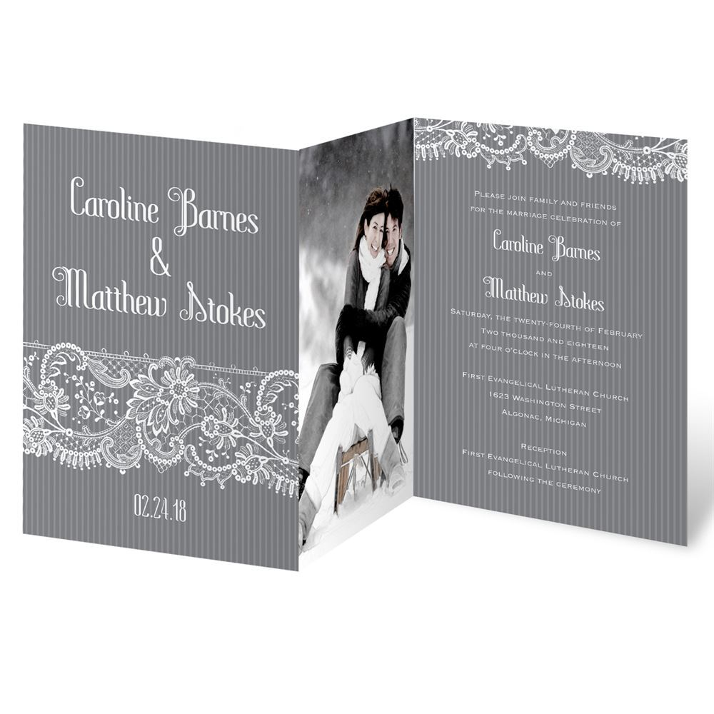 Fetching Lace Invitation  Invitations By Dawn