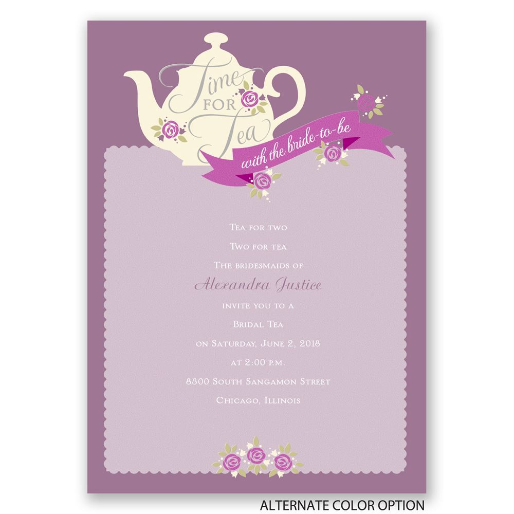 Personalized Bridal Invitations